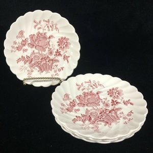 4 Royal Staffordshire Saucers Charlotte Clarice